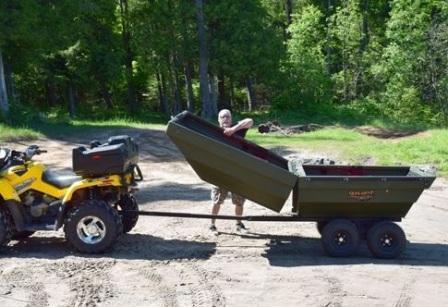Раскладной автоприцеп-лодка Tetra-POD