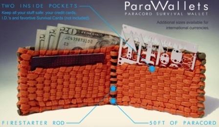 Паракордовый бумажник ParaWallet  с огнивом
