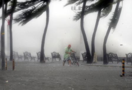 Ураган на тропическом острове