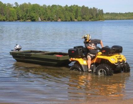 Складной автоприцеп - амфибия Tetra-POD в виде лодки