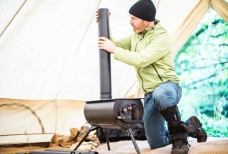 Портативная дровяная печь для экспедиций Frontier Plus