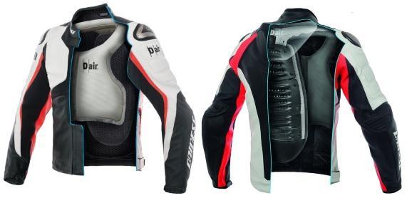 Кожаная мотокуртка с подушкой безопасности Misano 1000