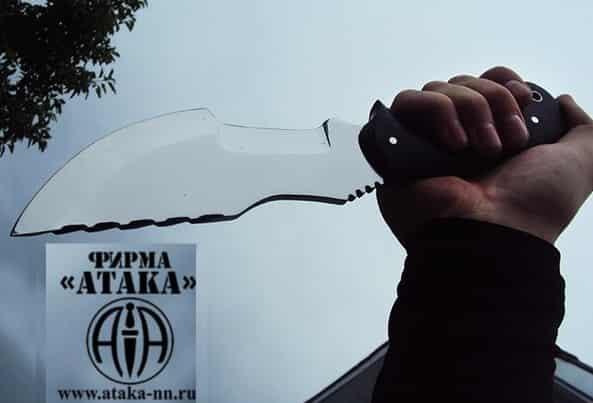 Тактический нож-фултанг для выживания АТАКА Трекер