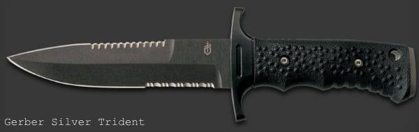 Армейский нож с фиксированным лезвием Gerber Silver Trident