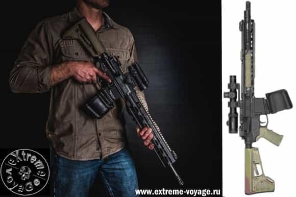 Пулеметный барабан PMAG D-60 для штурмовых винтовок