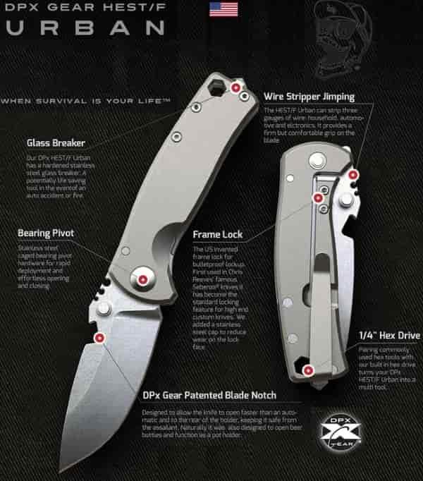 Городской раскладной EDC нож DPx HEST-F Urban
