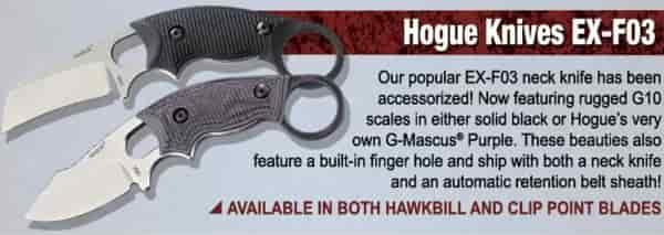 Промо изображение для новой серии резервных ножей Hogue EX-F03