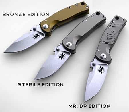 3 варианта исполнения ножа DPx HEST-F Urban