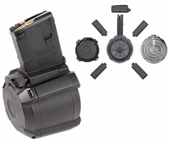 Барабанный магазин увеличит количество патронов в автоматической винтовке