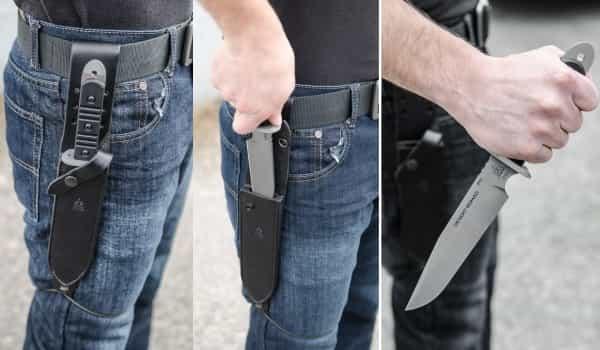 Применение ножа для ножевого боя  Desert Nomad