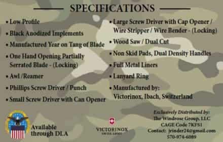 Combat Utility Knife Victorinox Demo