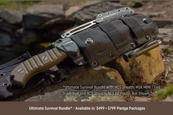 Нож-комплект для выживания MSK-1 от морпеха США