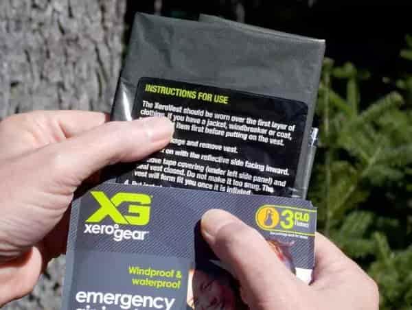 Аварийно-спасательный жилет XeroGear весит всего 57 грамм