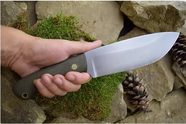Прочный нож для выживания Big Jay с широким клинком