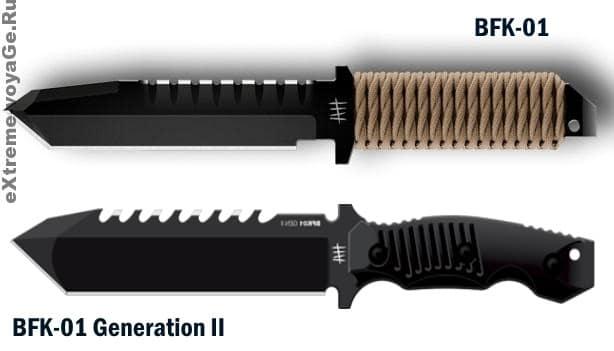 Тактический нож-танто для выживания BFK-01 Gen II