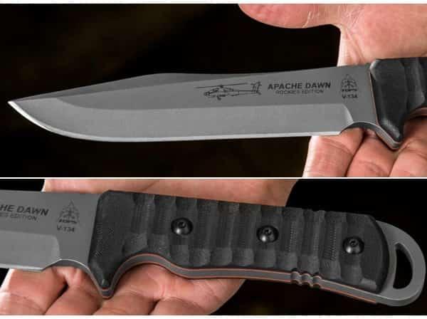 Мощный походно-тактический нож TOPS Apache Dawn Redux