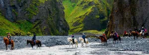 Путешествие от фермы Eldhestar в Исландии