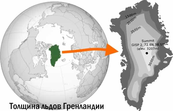 Угроза: быстрое таяние льдов Гренландии толщиной 3 км
