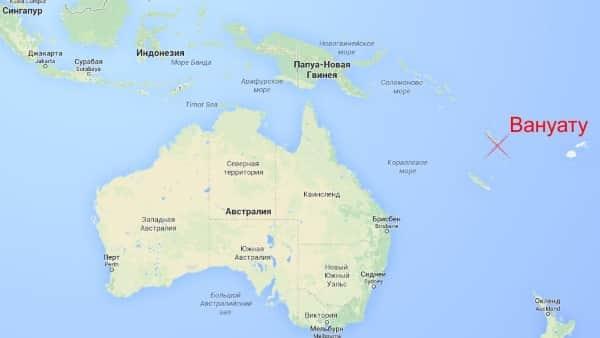 Штормовое предупреждение: тропический циклон Кук на Вануату