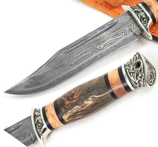 Дамасский 400-слойный нож Атака от кузни Железные братья