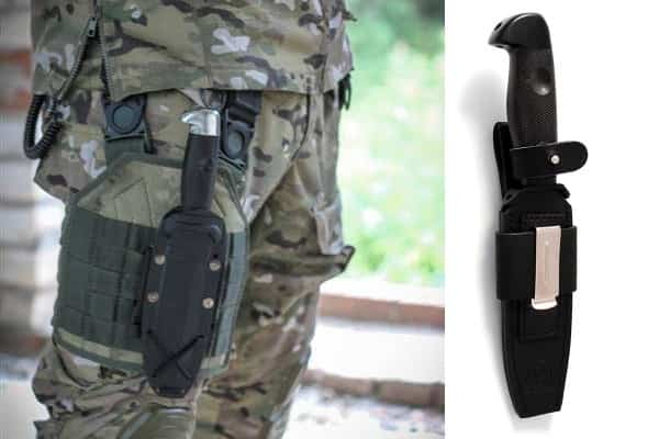 Черный тактический нож Кистень от ветерана спецназа ГРУ