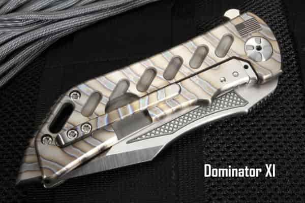 Надежный складной нож с алмазной текстурой Dominator XI