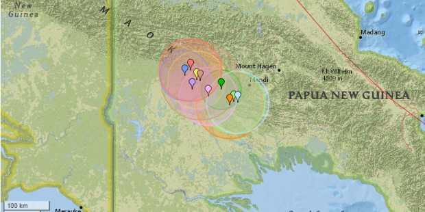 Серия из 50 мощных землетрясений потрясла Папуа - Новую Гвинею