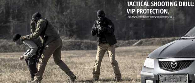 UF Pro видео: тактическая стрельба при спасении VIP из авто